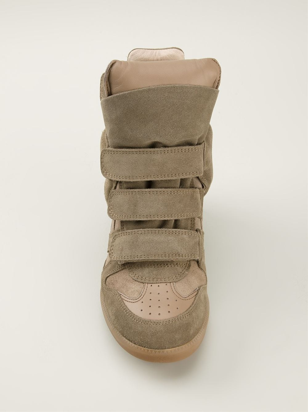 Isabel Marant Beckett Hi-Top Beige Women's Wedge Sneakers