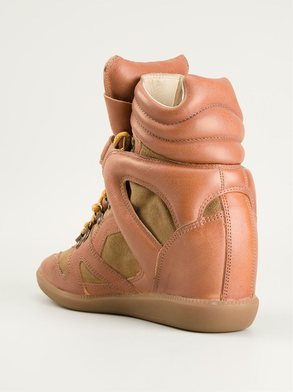 Isabel Marant Buck Hi-Top Orange Women's Wedge Sneakers