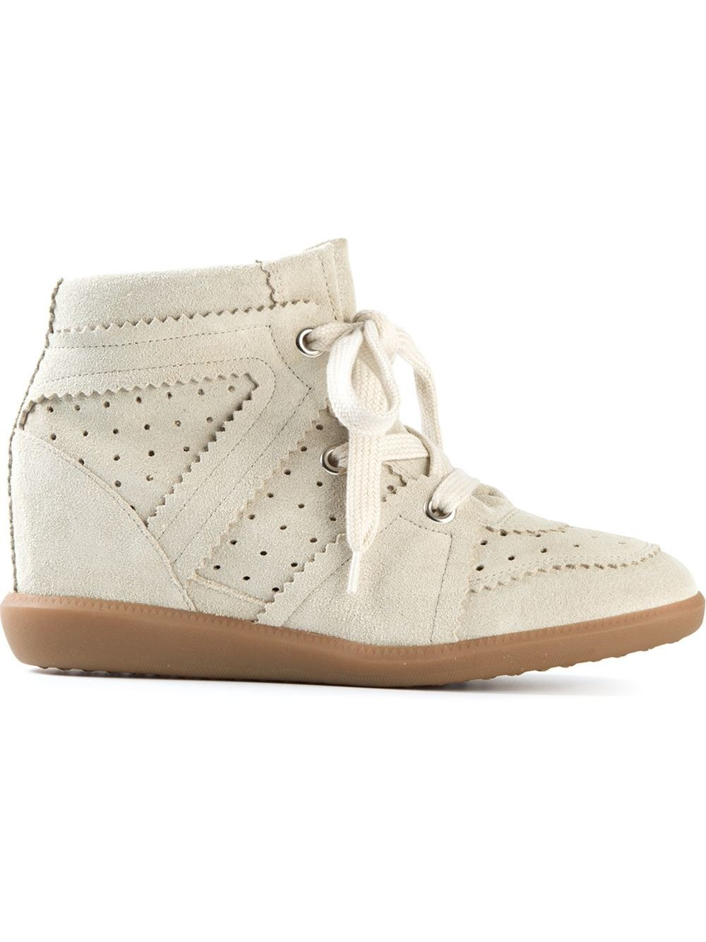 Isabel Marant Bobby Hi-Top Gray Women's Wedge Sneakers