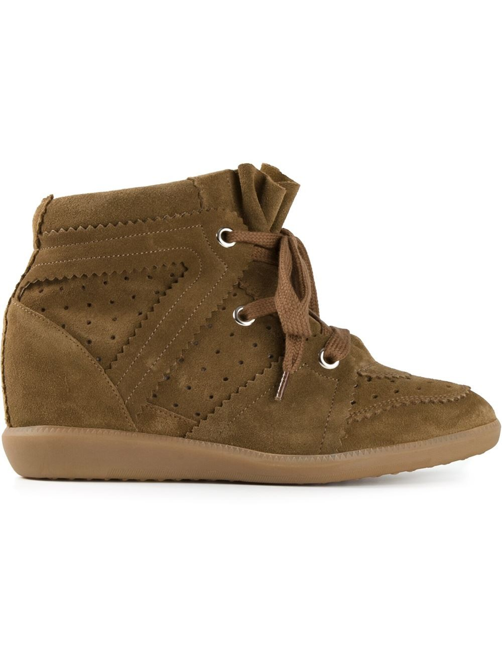Isabel Marant Etoile Bobby Brown Women's Wedge Sneakers