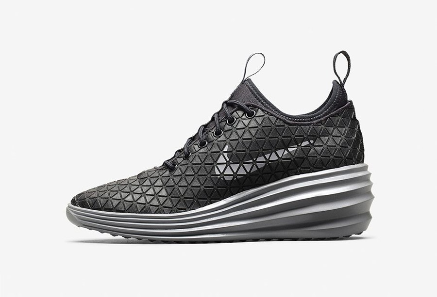 Nike WMNS Lunar Elite Sky Hi QS FW Paris 652902-002 Metallic Hematite Wolf Grey Anthracite Women's Shoe