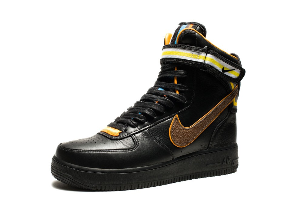 Riccardo Tisci Nike Air Force 1 Hi Sp Rt 669919-029 Black Baroque Brown Leather Sneakers