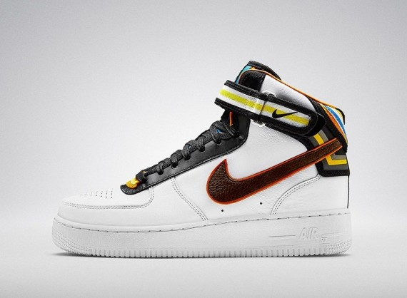 Nike Riccardo Tisci Air Force 1 Mid White Leather Sneakers