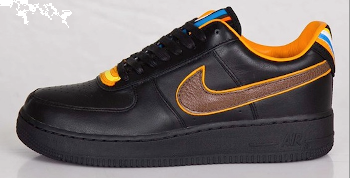 Riccardo Tisci x Nike Air Force 1 Low RT 677130-200 Black Baroque Brown Leather Sneakers