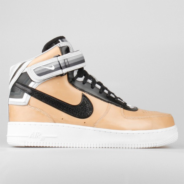 Riccardo Tisci Nike Air Force 1 Mid Sp Givenchy Vachetta 677130-200 Tan (Beige) Leather Sneakers