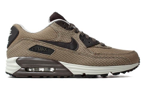 Nike Air Max Lunar90 Premium Suit & Tie Pack Part 2 Zig Zag Brown Tan Herringbone 705068-200 (Dark Dune Velvet Brown Baroque Brown) Womens and Mens Shoe