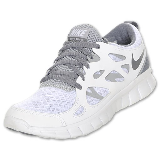 Nike Free Run 2 White/Cool Grey/Wolf Grey Mens Running Shoes