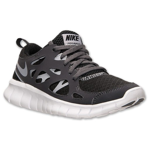Nike Free Run 2 Black/Wolf Grey/White/Dark Grey Mens Running Shoes