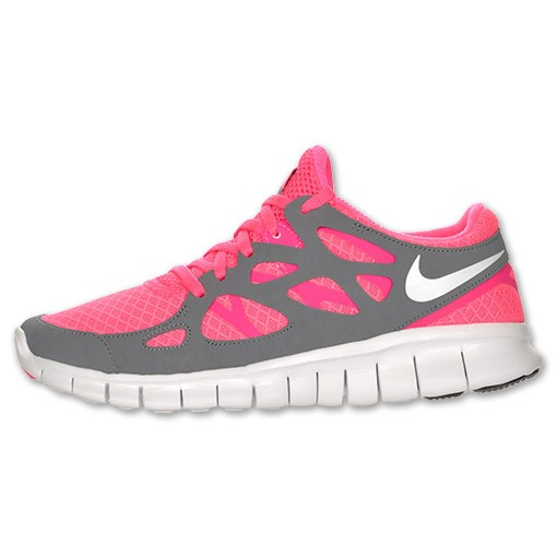 Nike WMNS Free Run+ 2 443816 610 Pink Flash/White/Cool Grey Womens Running Shoes