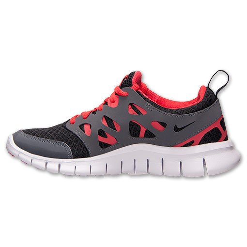 Nike Free Run 2 Black/White/Light Crimson Mens Running Shoes