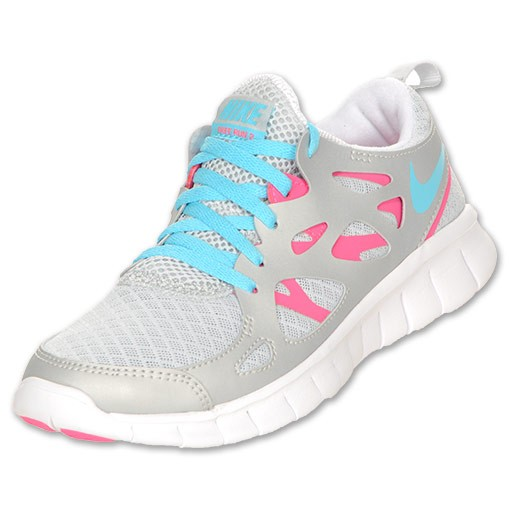 Nike WMNS Free 2.0 Metallic Platinum/Pink Flash/White/Blue Womens Running Shoes