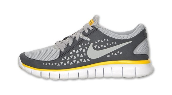 "Nike WMNS Free Run+ ""LIVESTRONG"" Light Grey/Medium Grey-Varsity Maize Womens Running Shoes"