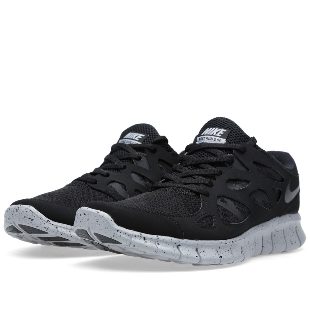 Nike Free Run 2 SP 'Genealogy of Free' 677736-001 Black Mens Running Shoes