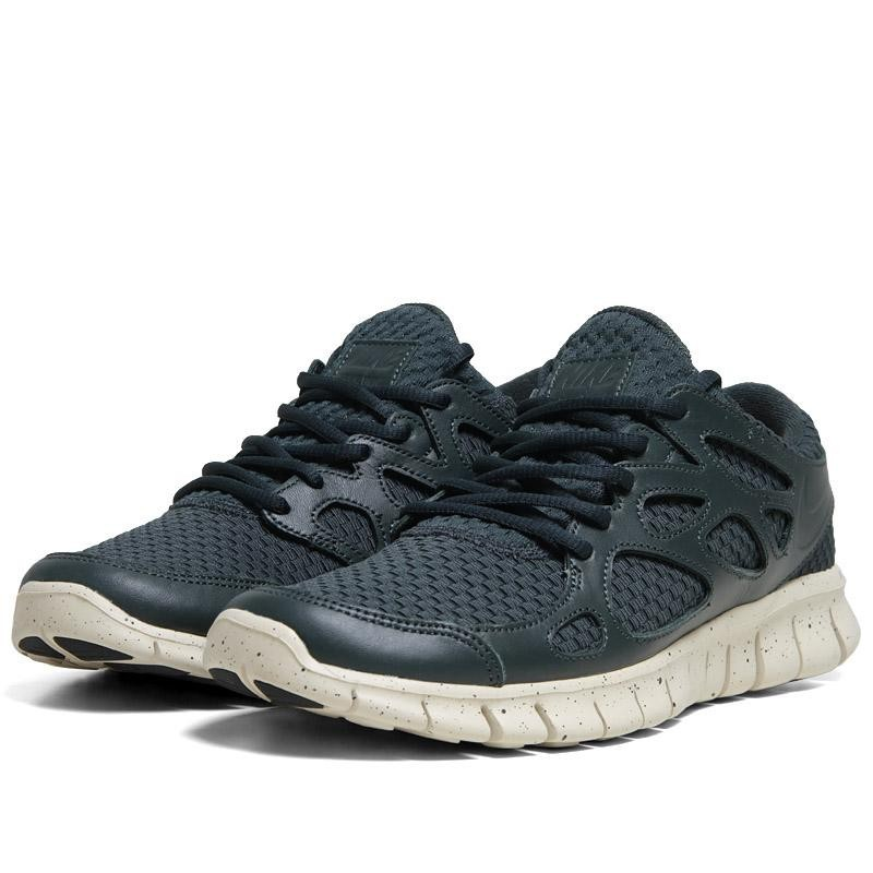 Nike Free Run 2+ WVN LTR NRG 553280 331 Seaweed Mens Running Shoes