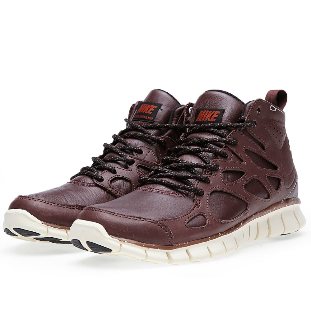 Nike Free Run 2 Sneakerboot QS 637996-200 Barkroot Brown Mens Running Shoes
