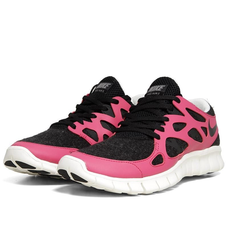 low priced 5f641 64305 Nike WMNS Free Run 2+ EXT 536746 016 Black Fireberry Womens Running Shoes  ...
