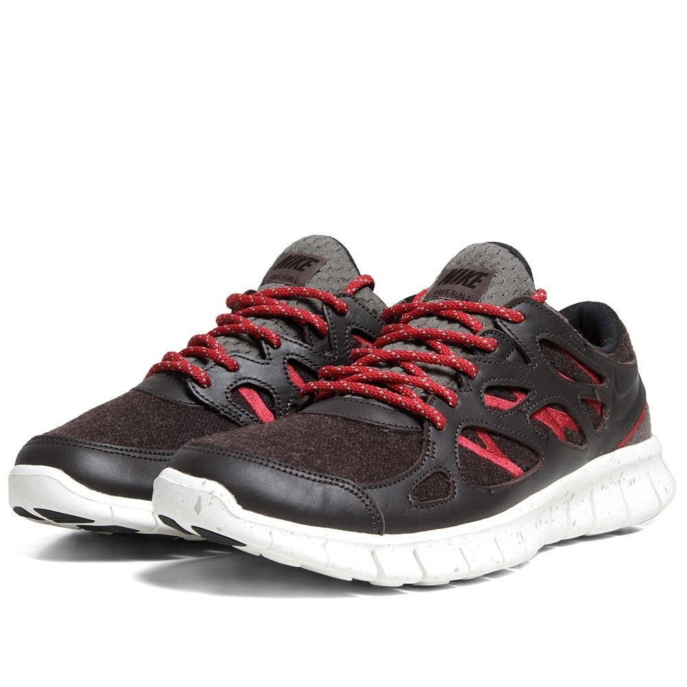 Nike Free Run +2 NRG 577182-200 Velvet Brown Mens Running Shoes
