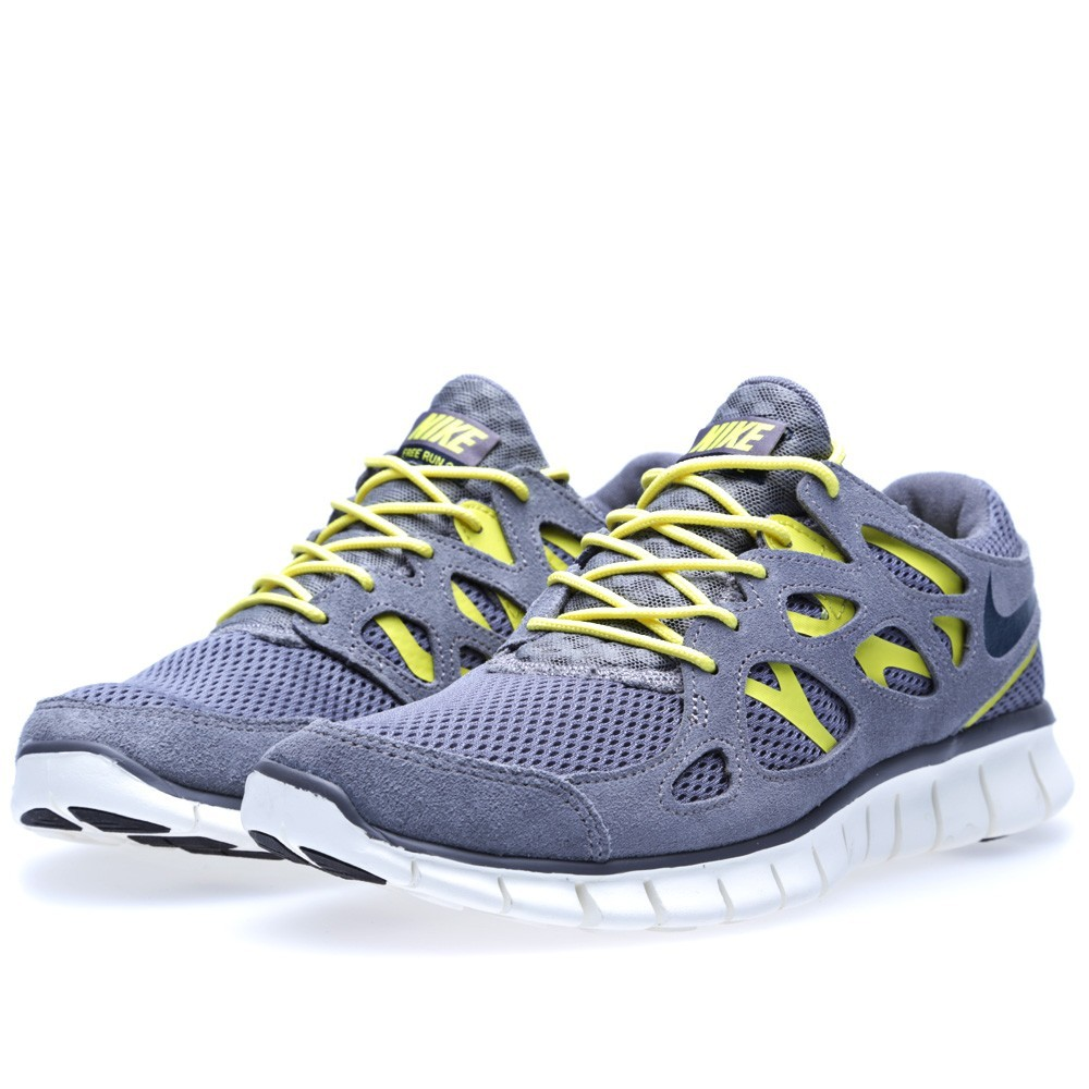Nike Free Run 2 537732-007 Cool Grey Armoury/Navy Mens Running Shoes