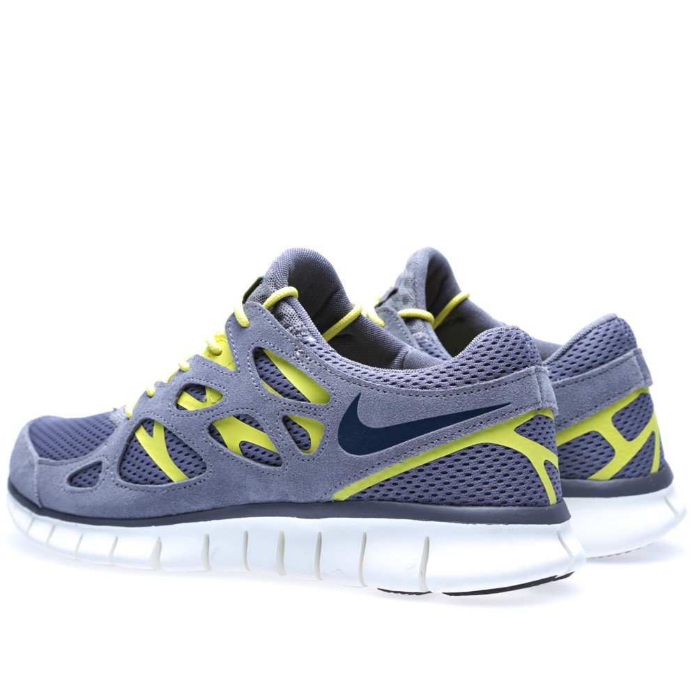 cheap for discount 906ed bdaf9 uk nike free run 2 537732 007 cool grey armoury navy mens running shoes  9aead 8ac16