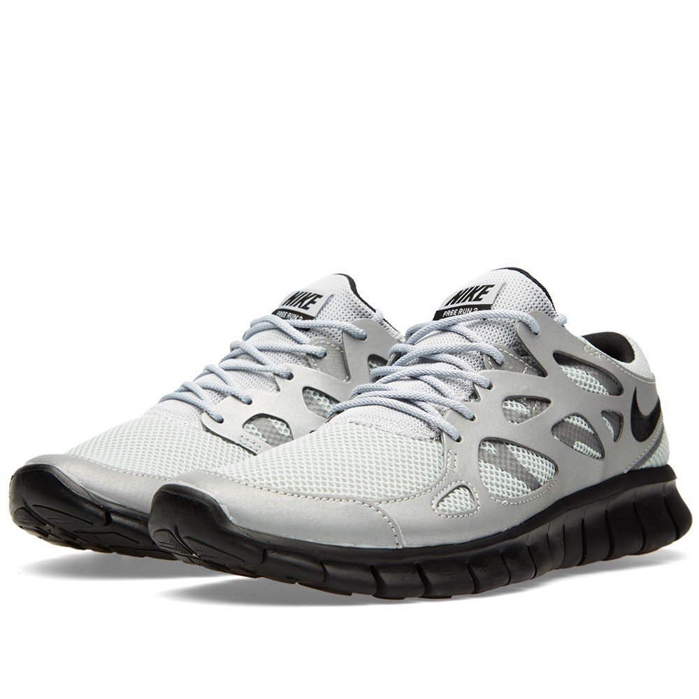 nike free run 2 metallic silver\/black-hyper