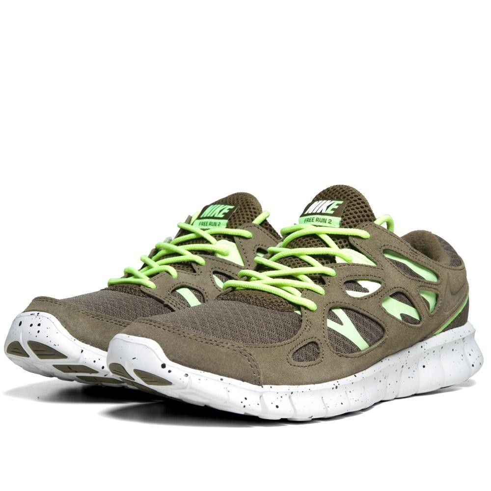 Nike Free Run + 2 EXT 555174-337 Squadron Green Mens Running Shoes