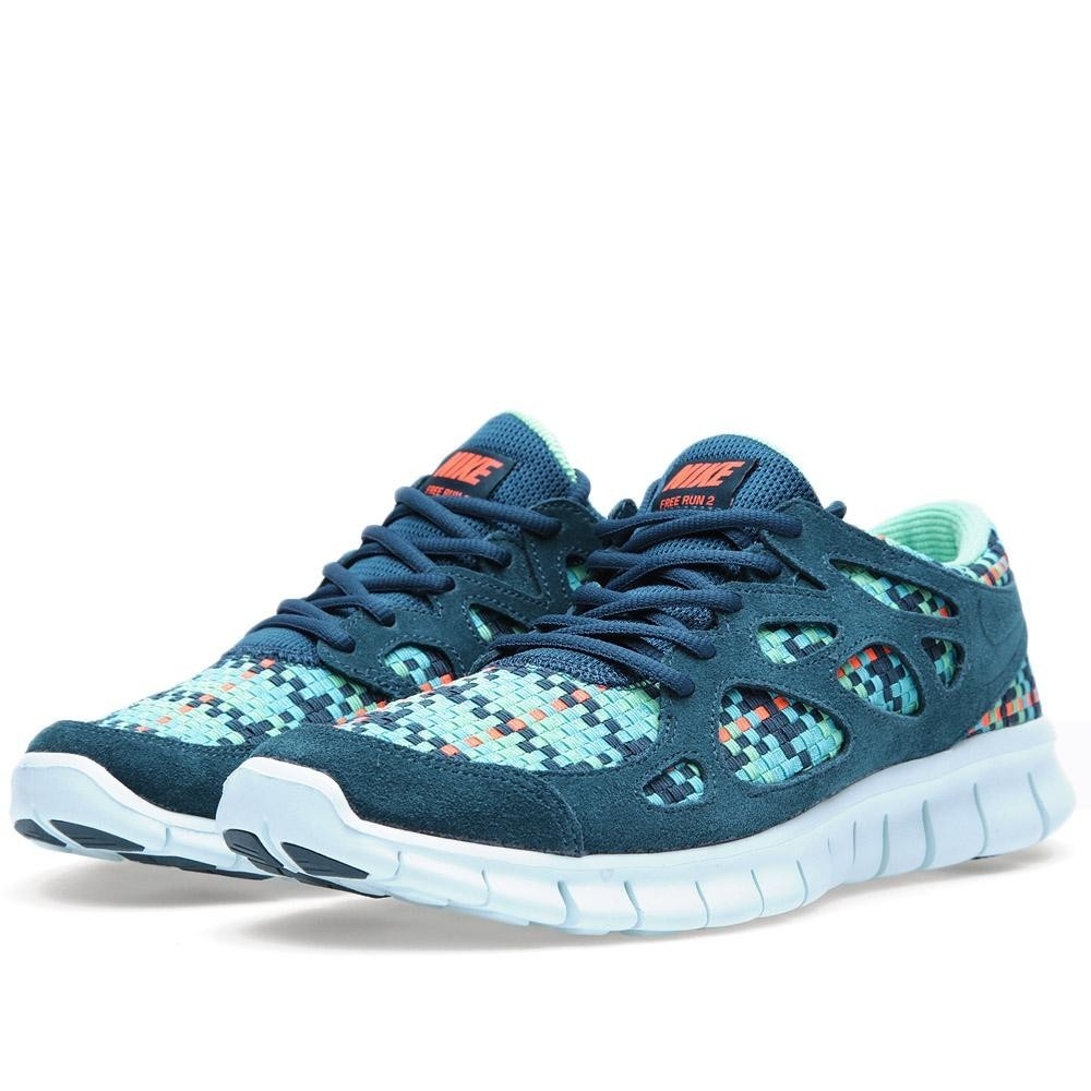 Nike Free Run+ 2 Woven 573920-336 Sport Turquoise Mens Running Shoes