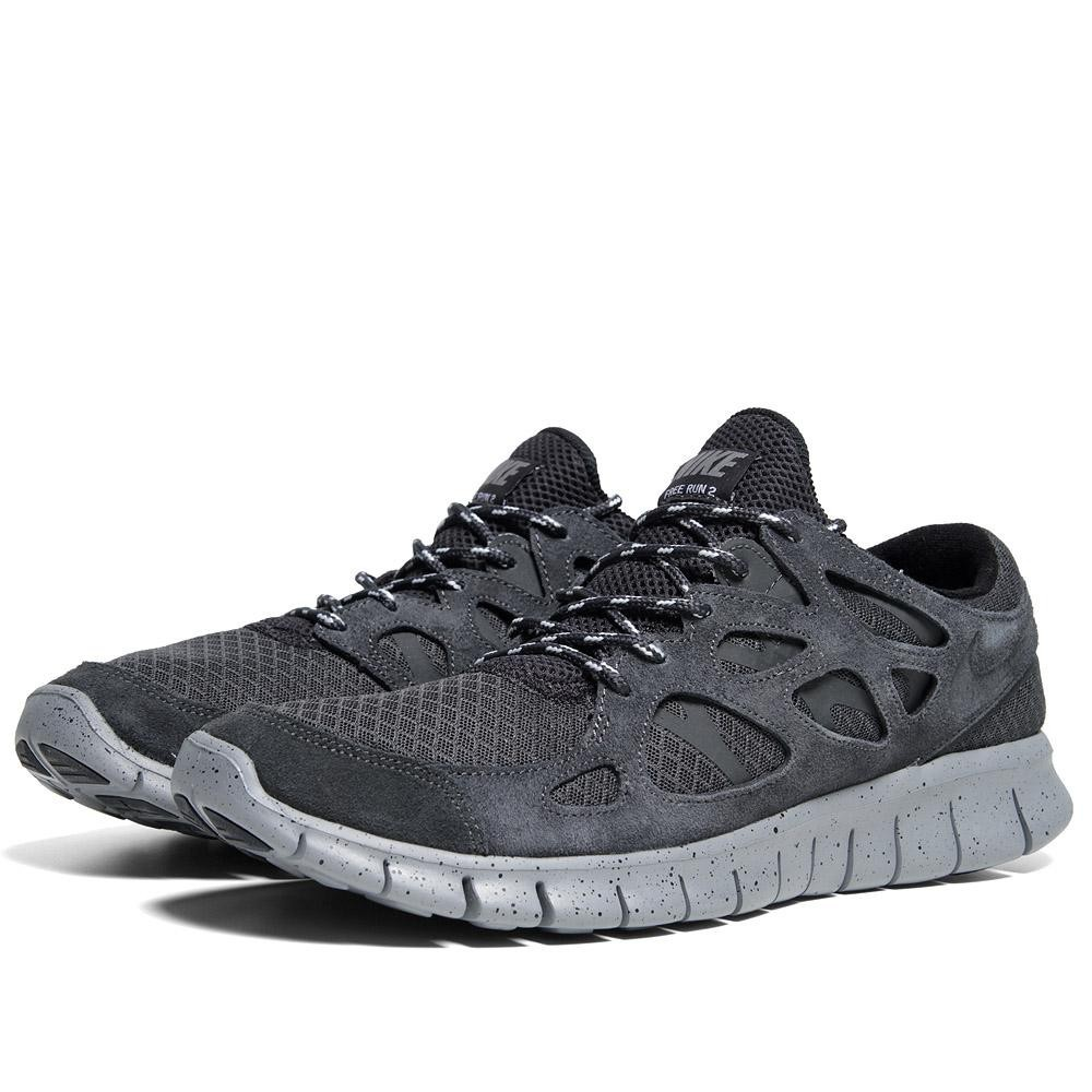 Nike Free Run 2+ 443815 010 Anthracite Mens Running Shoes
