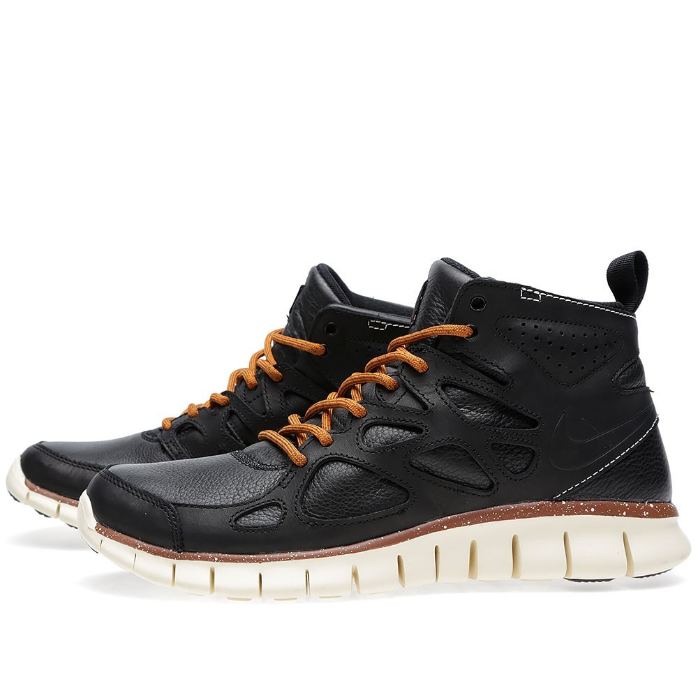 Nike Free Run 2 Sneakerboot QS 637996-001 Black Mens Running Shoes