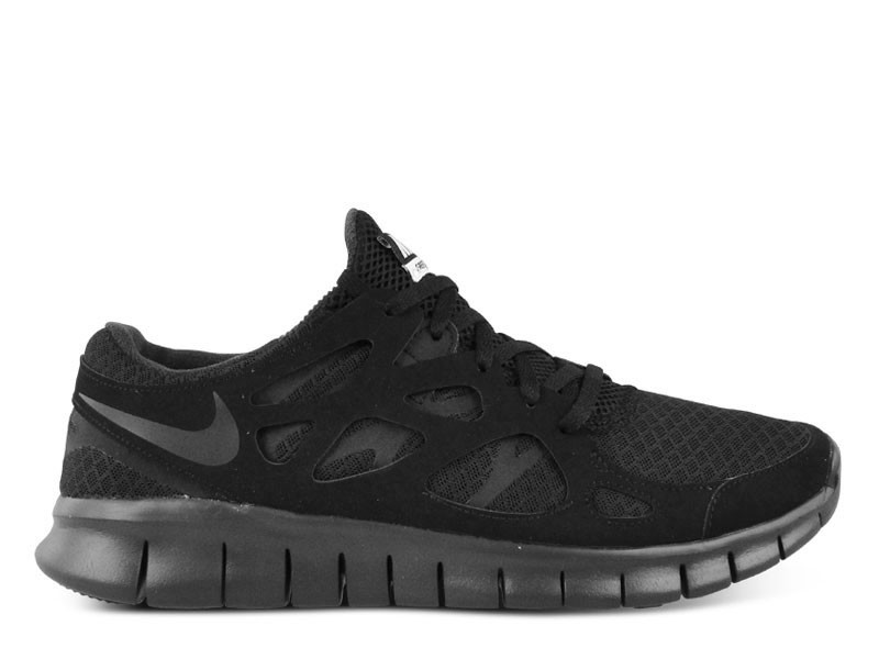 nike free run+ 2 mens running shoes black/anthracite