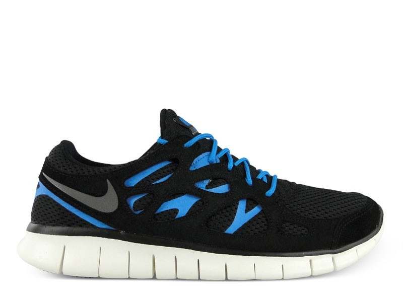 Nike Free Run 2+ 537732 002 Black/Dark Grey-Black-Blue Hero Mens Running Shoes