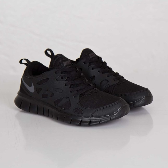 Nike Free Run 2 (GS) 443742-023 Black/Dark Grey Womens Running Shoes