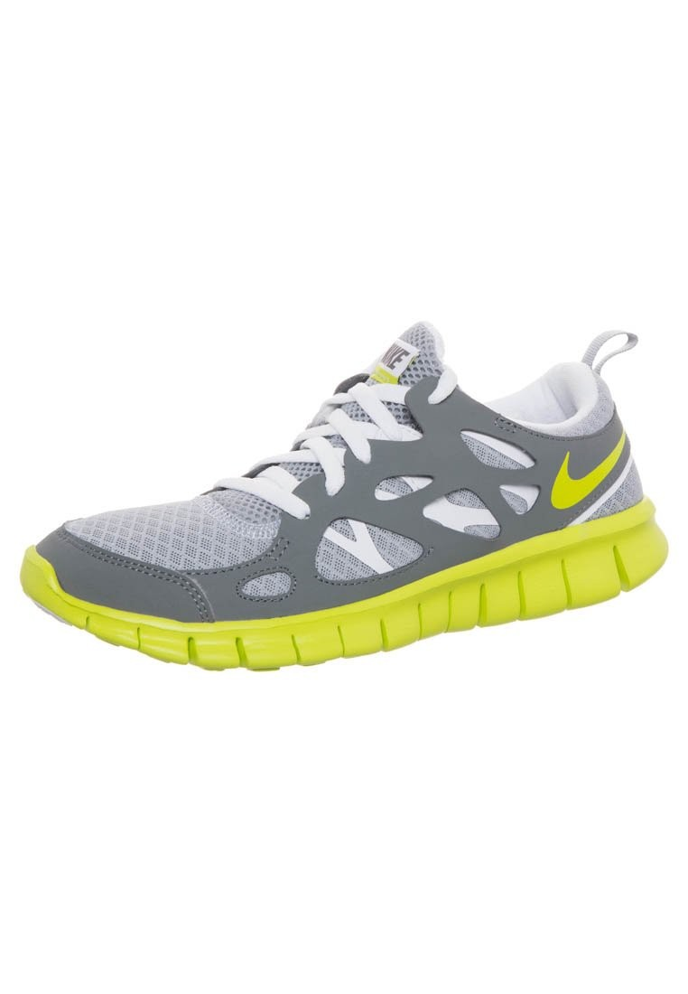 Nike WMNS Free Run 2+ Wolf Grey Vermin Green Womens Running Shoes