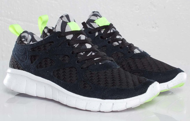 Liberty x Nike WMNS Free Run+ 2 Lotus Jazz Black/White/Neon Womens Running Shoes
