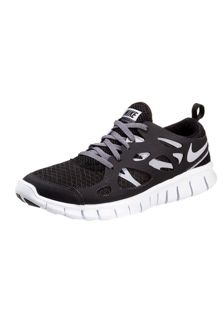 Nike Free Run 2+ Black/Wolf Grey/White/Dark Grey Mens Running Shoes
