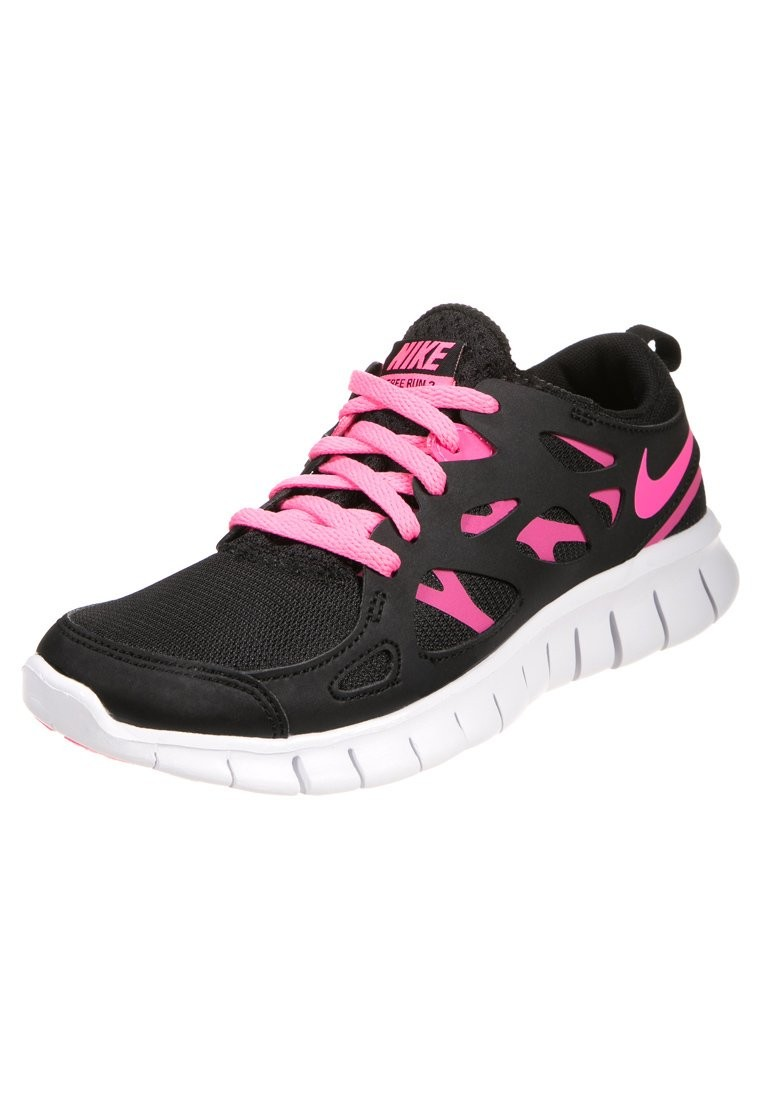 Nike WMNS Free Run 2+ Black/Pink/White Womens Running Shoes