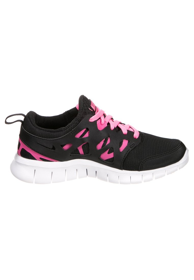 premium selection e0e96 38fd0 ... Nike WMNS Free Run 2+ Black Pink White Womens Running Shoes ...