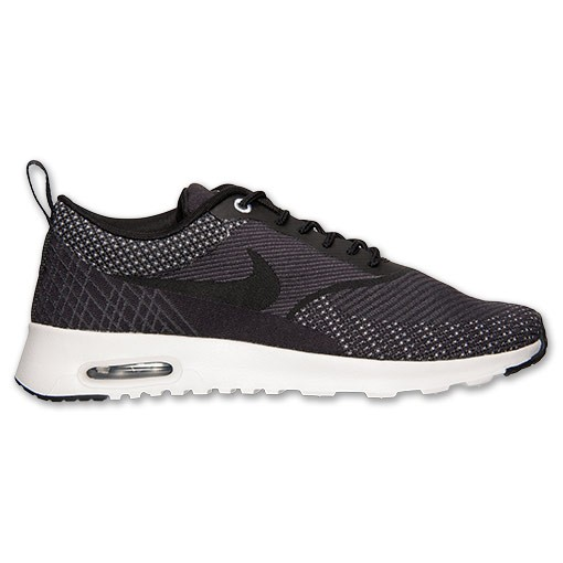 Nike WMNS Air Max Thea Jacquard 654170 001 Dark Grey Black White Metallic Silver Women's Shoe