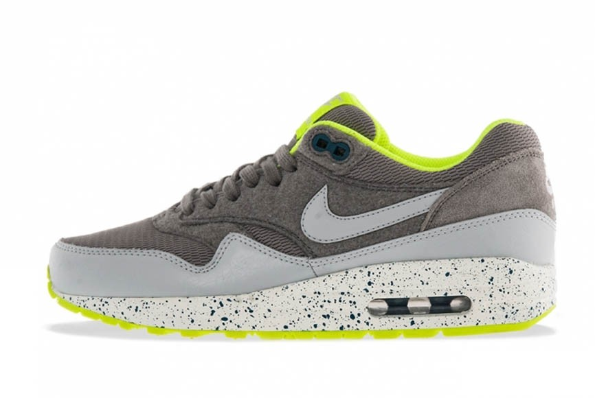 Nike WMNS Air Max 1 Volt Canyon Grey Dusty Grey Womens Running Shoes