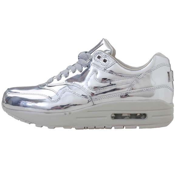 Nike WMNS Air Max 1 Liquid Metal Silver Womens Casual Shoes