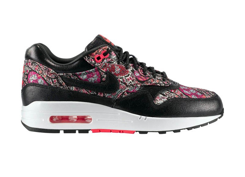 Nike WMNS Air Max 1 Liberty OG QS Lagos Laurel 540855-006 Black Black Solar Red White Womens Running Shoes