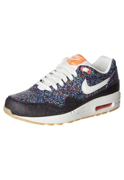 Nike WMNS Air Max 1 Liberty of London ND Lib– SS13 528712-400 (Navy Blue) Hyper Blue Sail Total Crimson Gum Yellow Womens Running Shoes