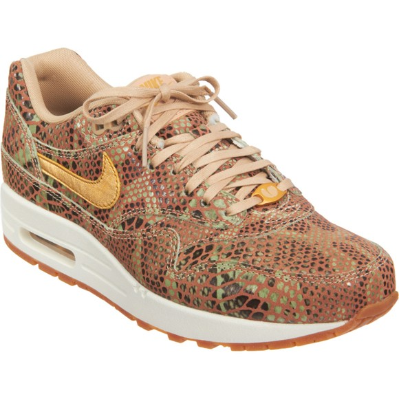 Nike WMNS Air Max 1 Year Of The Snake Yots QS Python Brown Green Womens Running Shoes