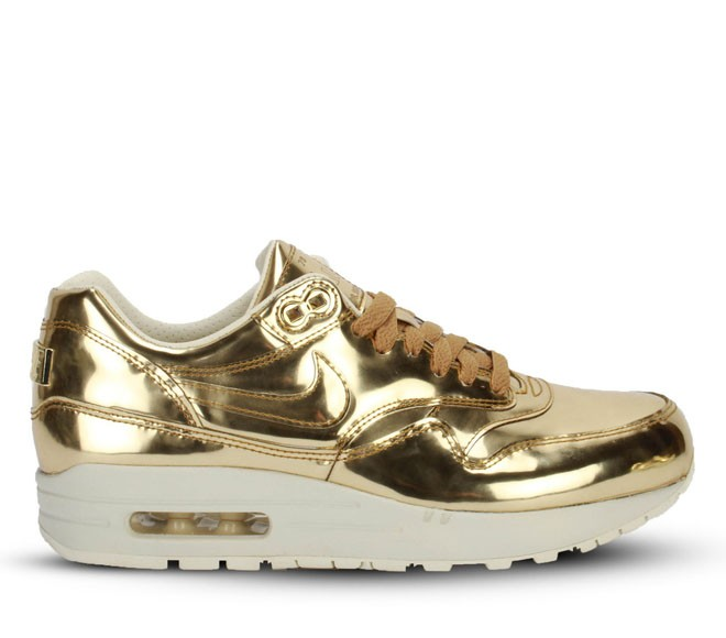 Nike WMNS Air Max 1 SP Liquid Metal Gold Womens Casual Shoes