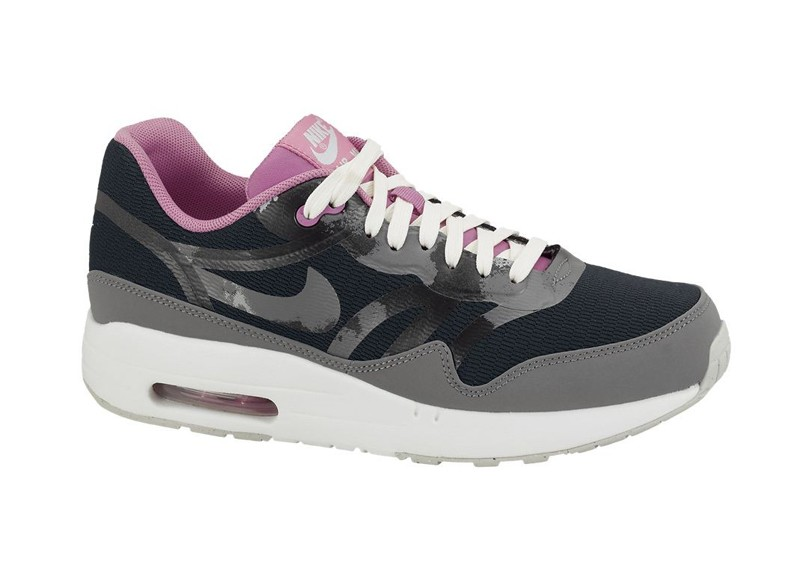 Nike WMNS Air Max 1 CMFT Tape Black Grey Pink Womens Casual Shoes