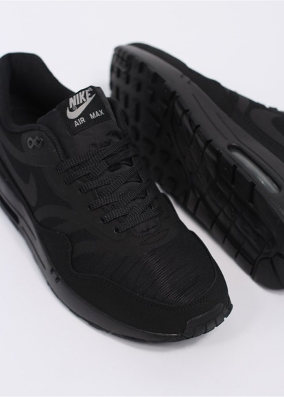 Nike WMNS Air Max 1 Comfort Premium Tape – Reflective Pack All Black Womens Casual Shoes