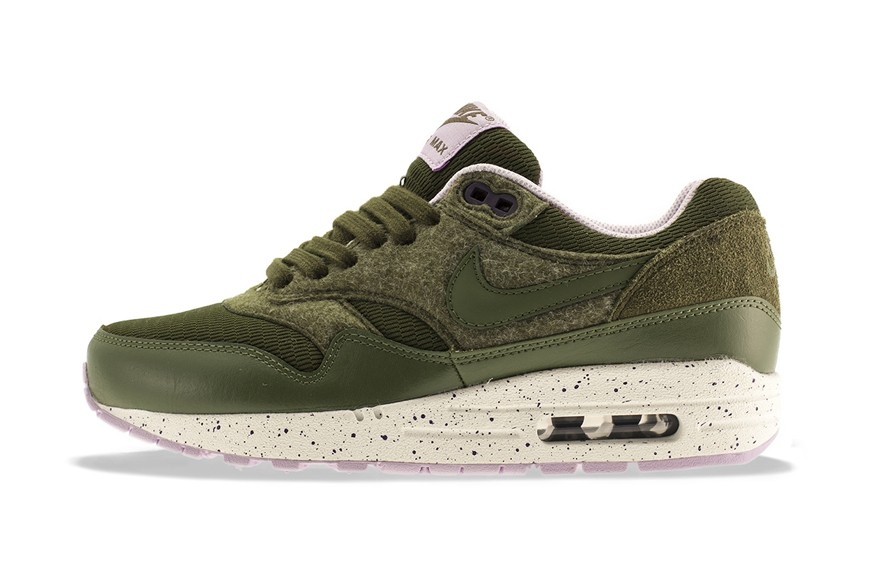 Nike WMNS Air Max 1 Dark Loden Medium Olive Womens Casual Shoes