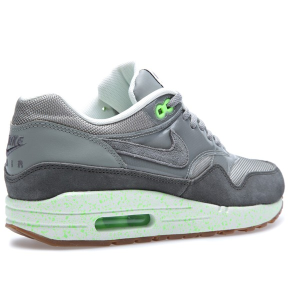 Nike WMNS Air Max 1 Premium Mine Grey Mecury Grey Flash Lime Womens Running Shoes