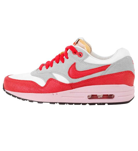 Nike WMNS Air Max 1 ND VNTG Vintage Lth/Textile Hyper Red Start Gray Womens Running Shoes