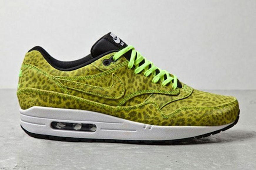 Nike Air Max 1 FB Yellow Leopard Men's Casual Running Shoe