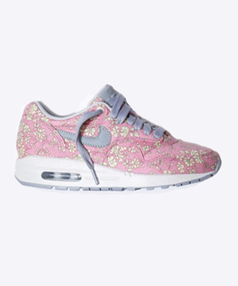 Nike Air Max 1 Premium Liberty Of London Floral Pepper Print Pink Men's Casual Running Shoe